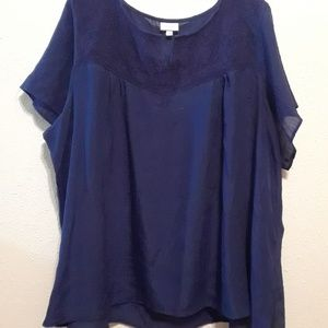 Deep Navy Blue Blouse by Avenue size 30/32